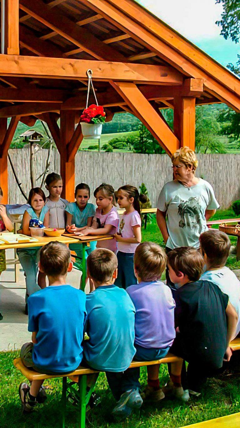 Egy kép, erdei iskola, a főzésről